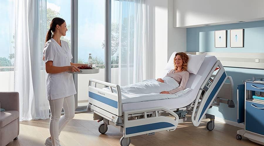 ابعاد تخت بیمار